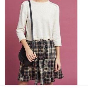 eri + ali flannel sweatshirt dress size small